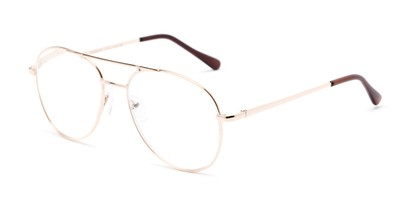 Angle of The Sonoma in Gold, Women's and Men's Aviator Reading Glasses