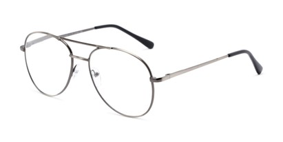 Angle of The Sonoma in Grey, Women's and Men's Aviator Reading Glasses