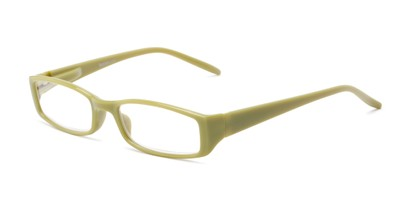 Angle of The Sophie in Green, Women's Rectangle Reading Glasses