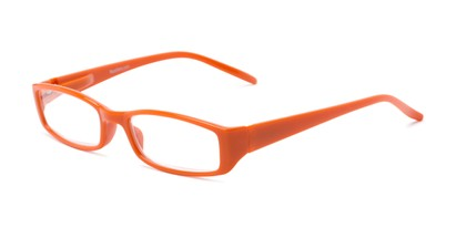 Angle of The Sophie in Orange, Women's Rectangle Reading Glasses