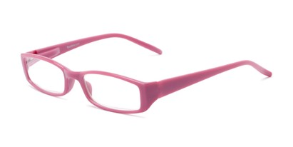 Angle of The Sophie in Pink, Women's Rectangle Reading Glasses