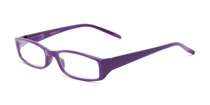 Angle of The Sophie in Purple, Women's Rectangle Reading Glasses