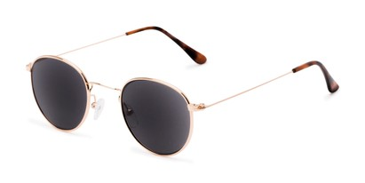Angle of The Spirit Reading Sunglasses in Gold with Smoke, Women's and Men's Round Reading Sunglasses