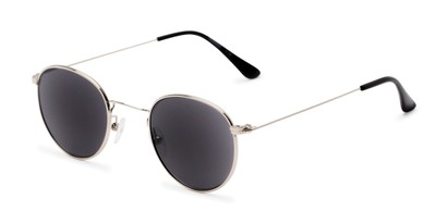 Angle of The Spirit Reading Sunglasses in Silver with Smoke, Women's and Men's Round Reading Sunglasses