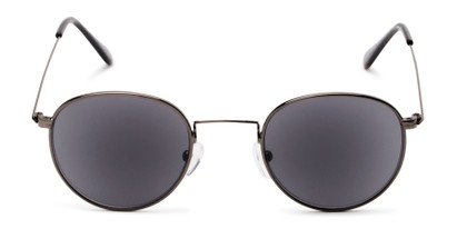 Front of The Spirit Reading Sunglasses in Grey with Smoke