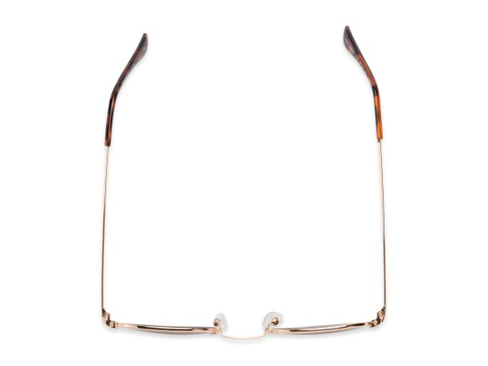 Overhead of The Spirit Reading Sunglasses in Gold with Amber