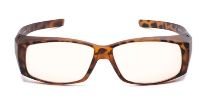 Front of The Spokane Fit Over Unmagnified Computer Glasses in Matte Tortoise with Yellow