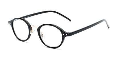 Angle of The Spring in Black, Women's and Men's Round Reading Glasses