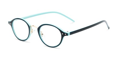 Angle of The Spring in Blue, Women's and Men's Round Reading Glasses
