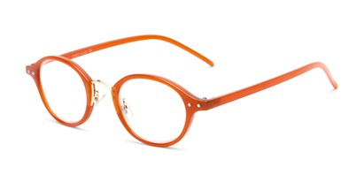Angle of The Spring in Orange, Women's and Men's Round Reading Glasses