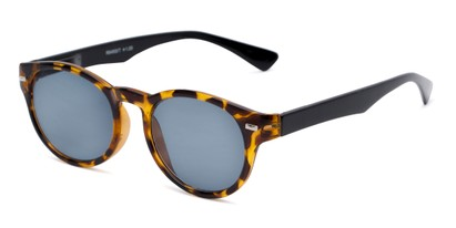Angle of The St. Paul Reading Sunglasses in Tortoise/Black with Smoke, Women's and Men's Round Reading Sunglasses