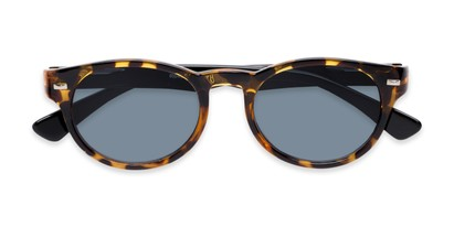 Folded of The St. Paul Reading Sunglasses in Tortoise/Black with Smoke
