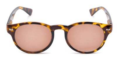 Front of The St. Paul Reading Sunglasses in Tortoise with Amber
