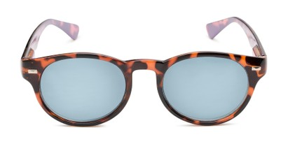 Front of The St. Paul Reading Sunglasses in Tortoise/Purple with Smoke