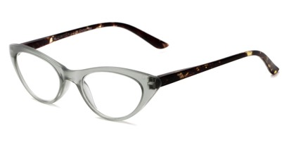 Angle of The Stella in Grey/Tortoise, Women's Cat Eye Reading Glasses