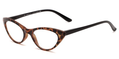 Angle of The Stella in Tortoise/Black, Women's Cat Eye Reading Glasses