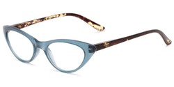 Angle of The Stella in Blue/Tortoise, Women's Cat Eye Reading Glasses