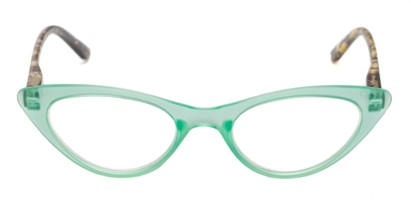 Front of The Stella in Green/Tortoise