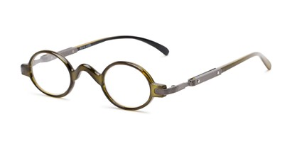Angle of The Sterling in Green, Women's and Men's Round Reading Glasses