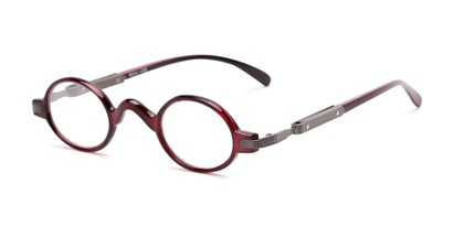 Angle of The Sterling in Red, Women's and Men's Round Reading Glasses