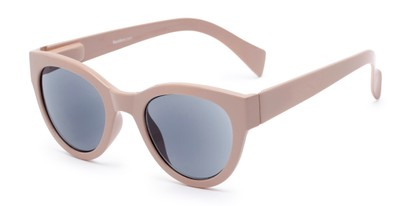 Angle of The Stevie Reading Sunglasses in Light Pink with Smoke, Women's Cat Eye Reading Sunglasses