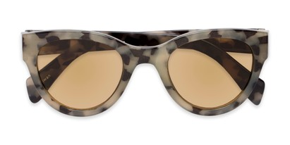 Folded of The Stevie Reading Sunglasses in Tan Tortoise with Amber