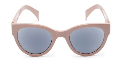 Front of The Stevie Reading Sunglasses in Light Pink with Smoke