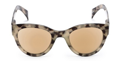 Front of The Stevie Reading Sunglasses in Tan Tortoise with Amber