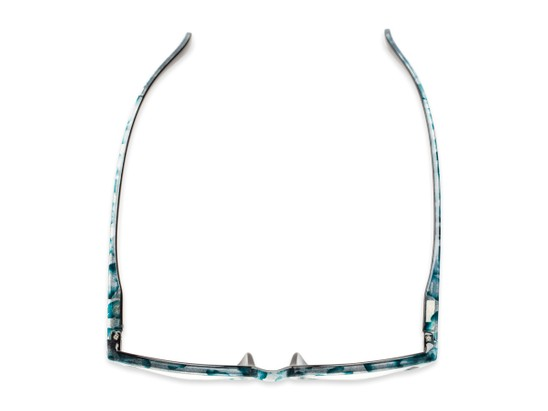 Overhead of The Story Bifocal in Teal/Black