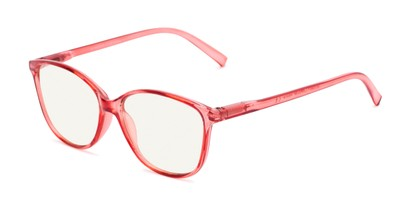 Angle of The Strawberry Computer Reader in Red, Women's Cat Eye Reading Glasses