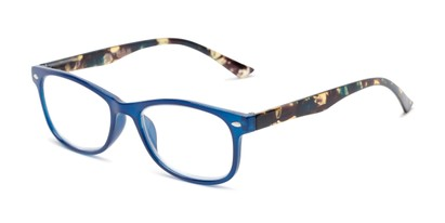 Angle of The Symphony in Navy Blue/Tortoise, Women's and Men's Rectangle Reading Glasses