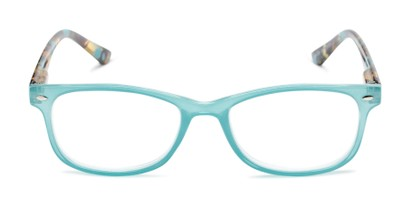 Front of The Symphony in Teal Blue/Tortoise