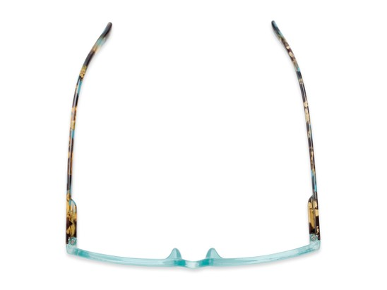 Overhead of The Symphony in Teal Blue/Tortoise