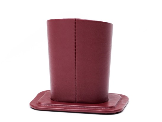 Front of Table Top Reading Glasses Holder in Dark Red