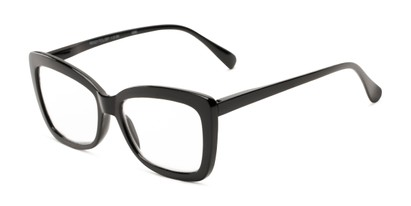 Angle of The Tatum in Black, Women's Cat Eye Reading Glasses