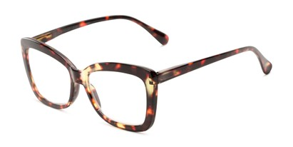 Angle of The Tatum in Brown Tortoise, Women's Cat Eye Reading Glasses