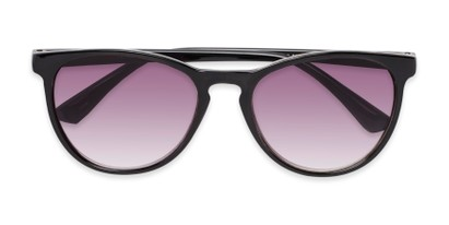 Folded of The Teagan Multifocal Reading Sunglasses in Black with Smoke