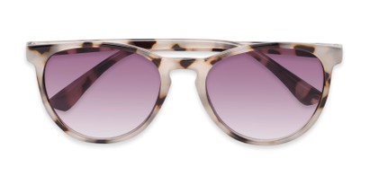 Folded of The Teagan Multifocal Reading Sunglasses in Light Tortoise with Smoke