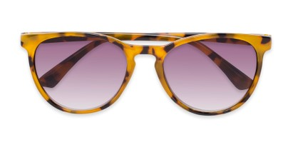 Folded of The Teagan Multifocal Reading Sunglasses in Brown Tortoise with Smoke