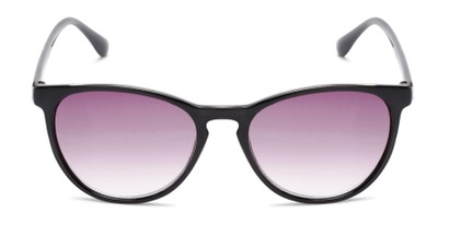 Front of The Teagan Multifocal Reading Sunglasses in Black with Smoke