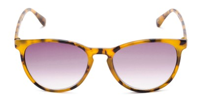 Front of The Teagan Multifocal Reading Sunglasses in Brown Tortoise with Smoke
