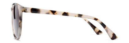 Side of The Teagan Multifocal Reading Sunglasses in Light Tortoise with Smoke