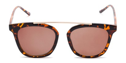 Front of The Tenley Reading Sunglasses in Brown Tortoise with Amber