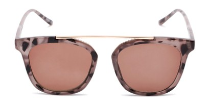 Front of The Tenley Reading Sunglasses in Light Tortoise with Amber