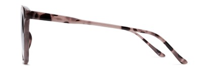 Side of The Tenley Reading Sunglasses in Light Tortoise with Amber