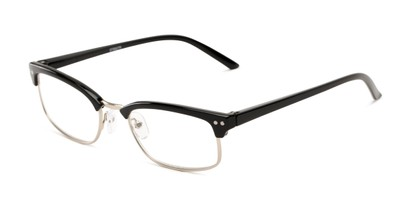 Angle of The Thorn in Black/Silver, Women's and Men's Browline Reading Glasses