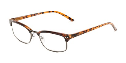 Angle of The Thorn in Brown Tortoise/Bronze, Women's and Men's Browline Reading Glasses