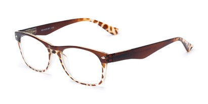 Angle of The Tilly in Brown Tortoise, Women's and Men's Retro Square Reading Glasses