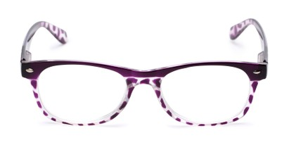 Front of The Tilly in Purple Tortoise