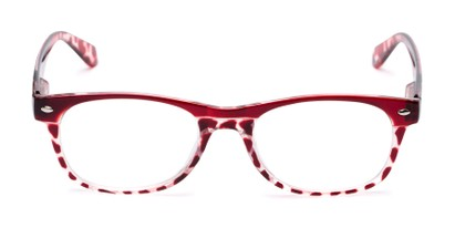 Front of The Tilly in Red Tortoise
